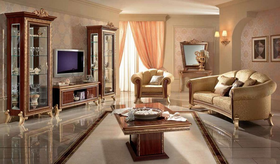 Arredo Classic гостиная классика комната Джотто (орех) Giotto. мебель для д