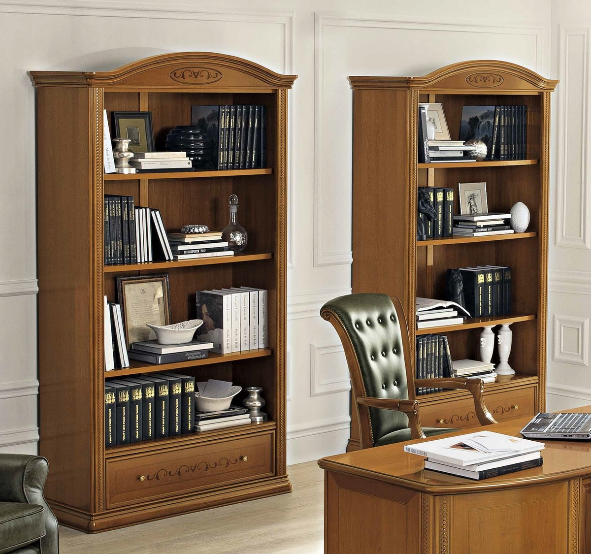 Шкаф книжный с ящиком без дверей siena day ciliegio, произво.