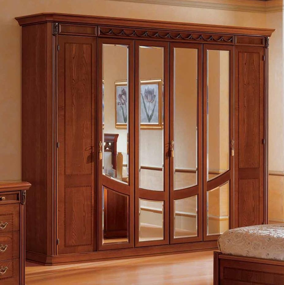 Итальянский 6-ти дверный шкаф с зеркалами toscana фабрики ca.